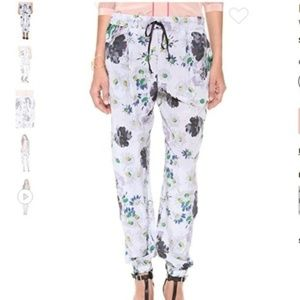 Elizabeth & James Walton Floral Silk Jogger Pants